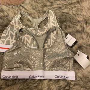 Lotof 2 Brand New CK Womens Modern Cotton Bralette